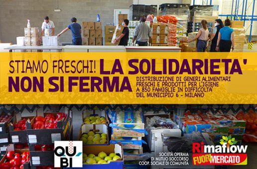 """""""Stiamo freschi"""" la solidarietà non si ferma"""