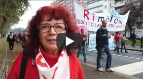 Nicoletta Dosio dei No TAV per la rimaflow