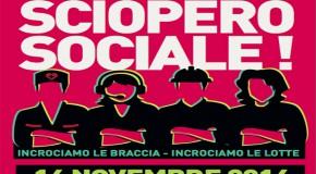 Partecipiamo tutt@ allo sciopero sociale generale del 14 novembre