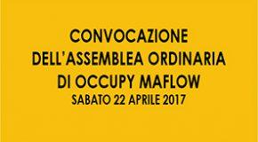 Convocazione assemblea ordinaria OCCUPY MAFLOW
