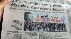 """L'ARTICOLO DE """"IL GIORNO"""" SUL RISCHIO CHIUSURA della RIMAFLOW"""