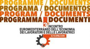 PROGRAMMA E DOCUMENTI DEL 3° INCONTRO EUROMEDITERRANEO DELL'ECONOMIA DEI  LAVORATORI E DELLE LAVORATRICI