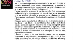 Lettera di Don LUIGI CIOTTI A MASSIMO LETTIERI