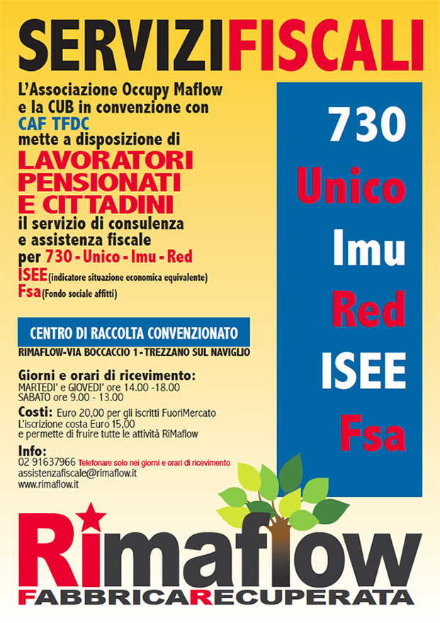 servizi fiscali rimaflow 621